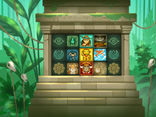 Tomb of the Golden Monkey Background and Slot Design and Animation
