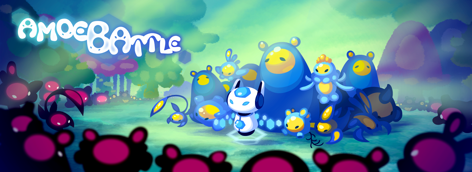 Key art for Amoebattle, showcased on the front page of the Apple App Store
