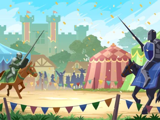 Ye Olde Bingo Faire vector background illustration