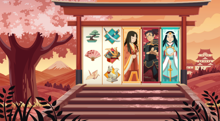 Shrine of the Shogun Background and Slot Design and Animation