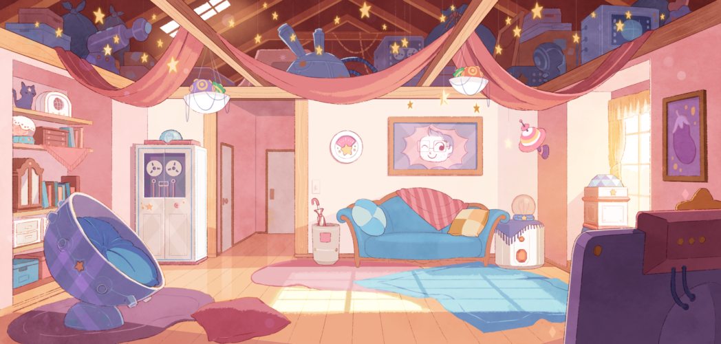 Bee's Apartment BG Design and Paint, first BG created used to set the style and tone of overall series