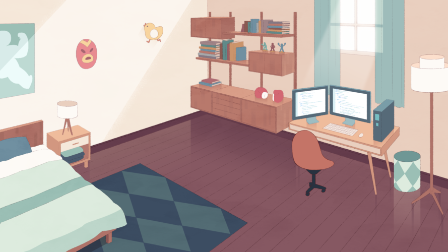 Cass's Room BG Design and Paint