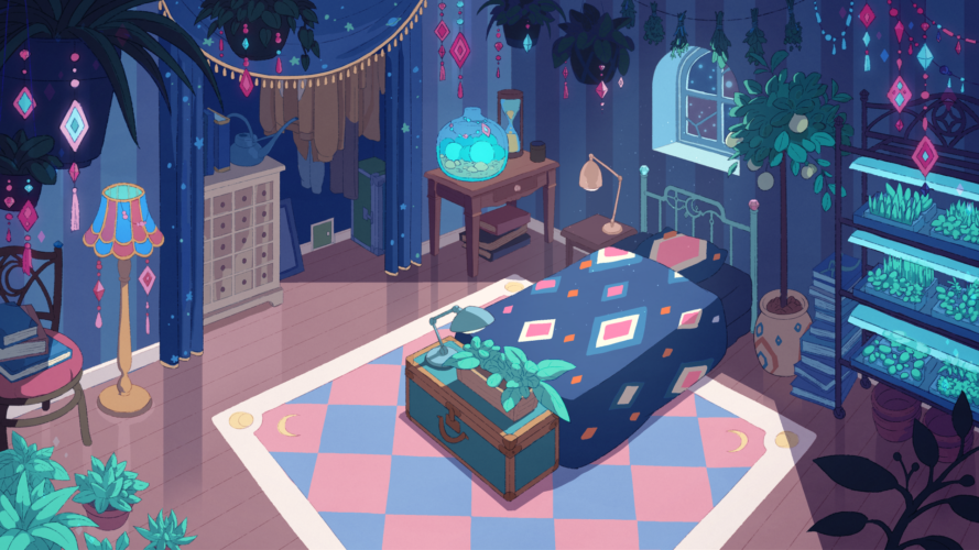 Deckard's Bedroom BG Design and Paint