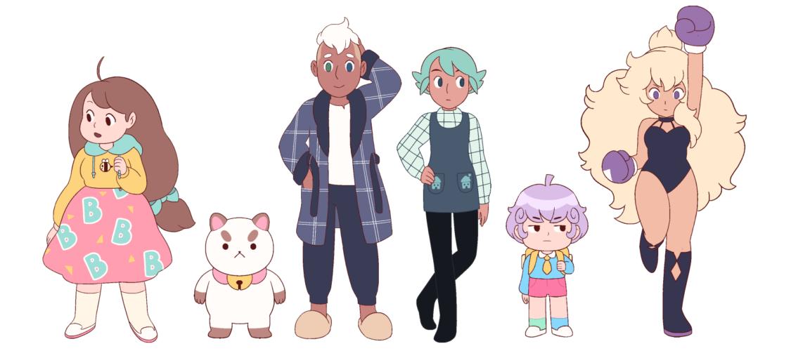 Main character designs
