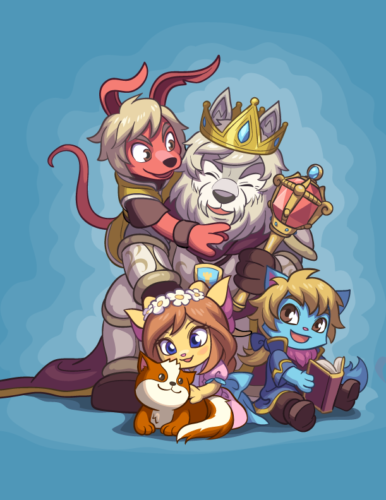 Royal family illustration