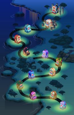 Bingo Blitz Slots Select Map and Icons
