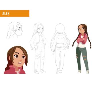 Alex character design