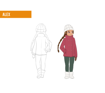 Alex winter outfit design