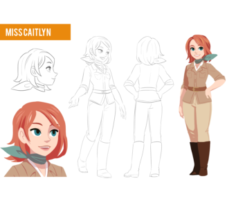 Miss Caitlyn character design