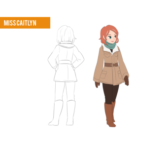 Miss Caitlyn winter outfit design