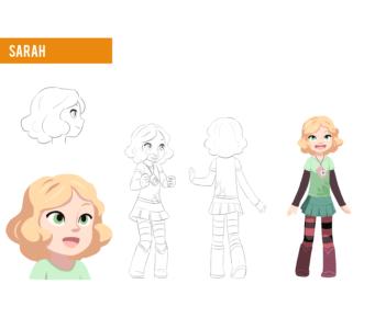 Sarah character design