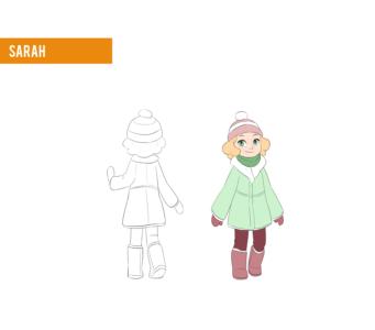 Sarah winter outfit design