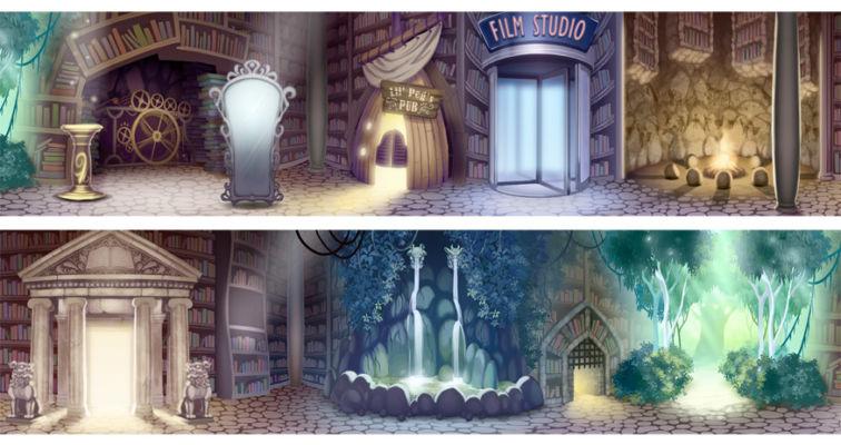 BG Design and Paint of Magic Bookstore 360 -degree panorama