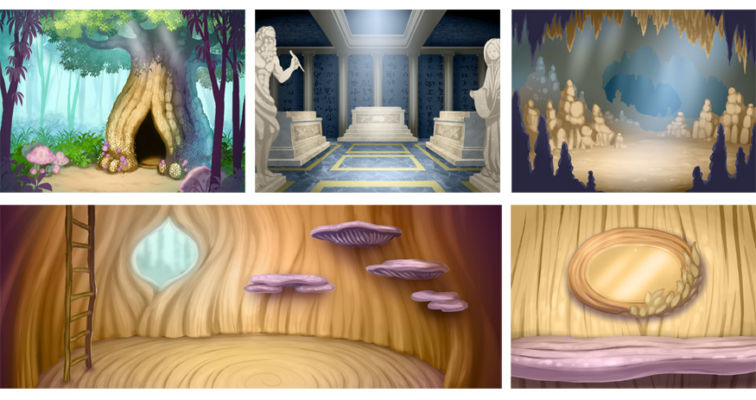 BG Design and Paint for rooms inside the Magic Bookstore