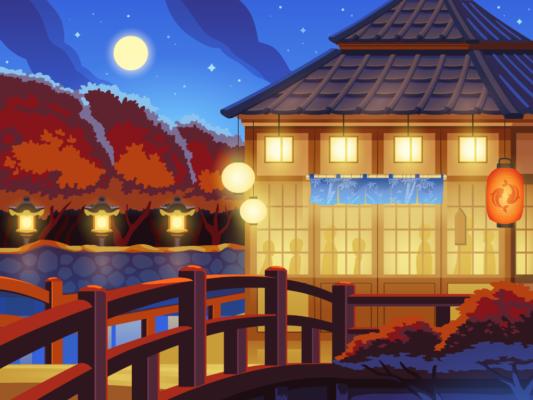 Sushi Bingo vector background illustration