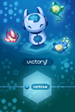 Amoebattle Victory illustration and UI