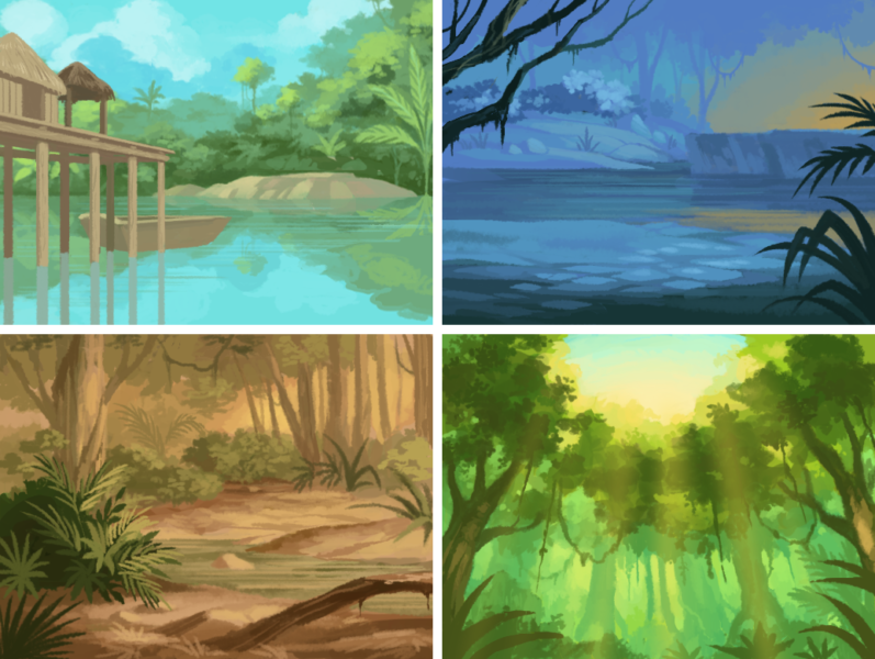 Amazon background concepts